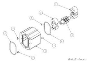 Корпуса ремкомплекты шестеренных моторов SNM 2, SEM 2, SHM 2, SNU 2 Sauer-Danfos - Изображение #1, Объявление #855497