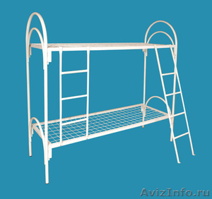 Кровати металлические двухъярусные для казарм, кровати для больниц. оптом. - Изображение #1, Объявление #1479852