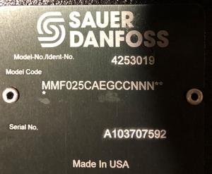 Гидромотор Sauer Danfoss new MMF-025-C-A-E-G-C-C-NNN аксиальный поршневой фиксир - Изображение #3, Объявление #821906