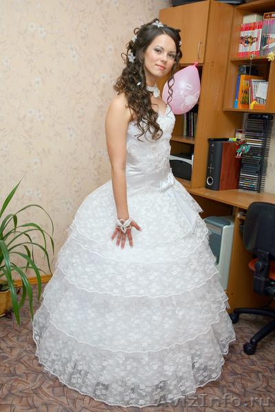 свадебное платье с гипюром в Саратове, продам, куплю, одежда в Саратове - 229539